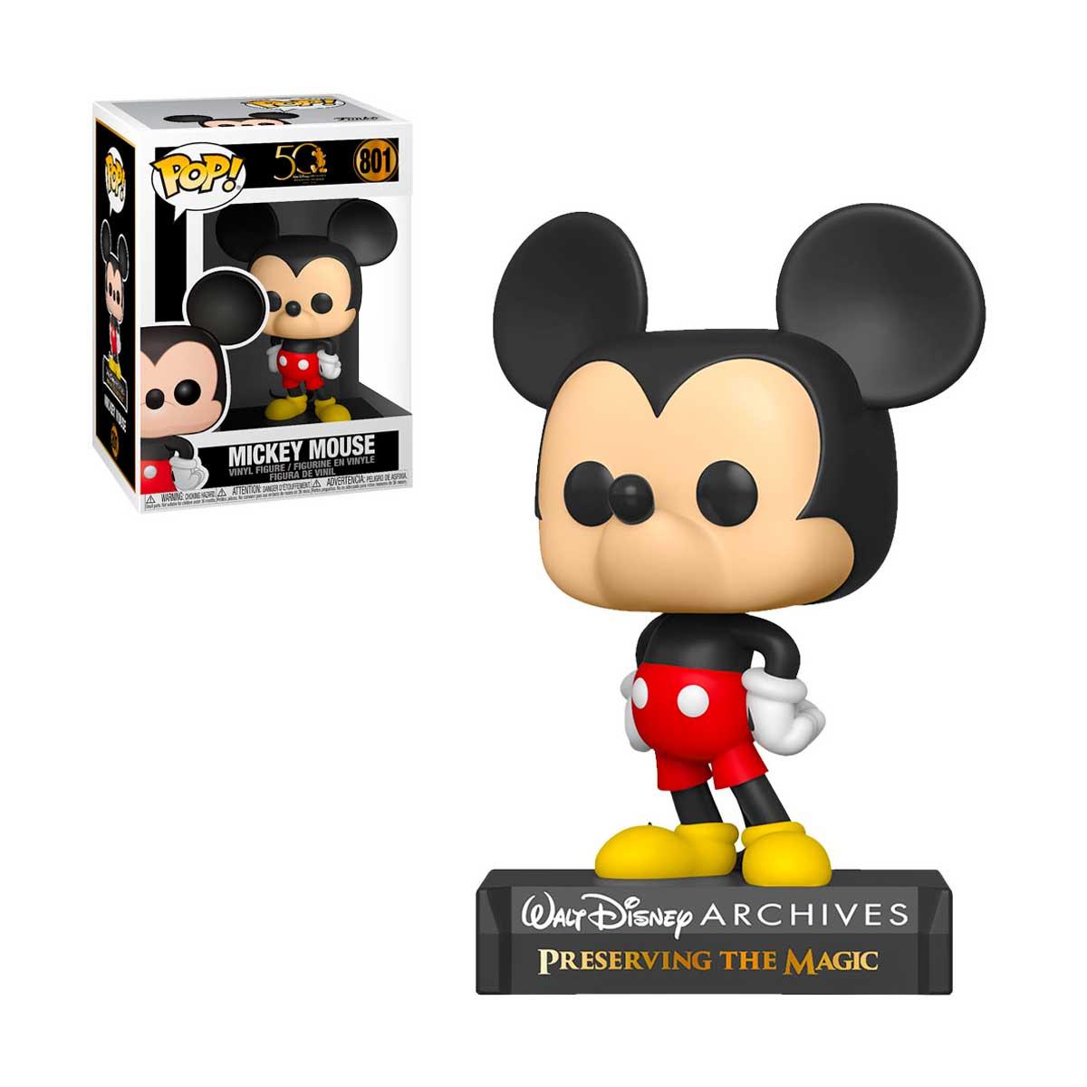 Funko Pop Disney Arquivos 50 Anos: Mickey Mouse 801