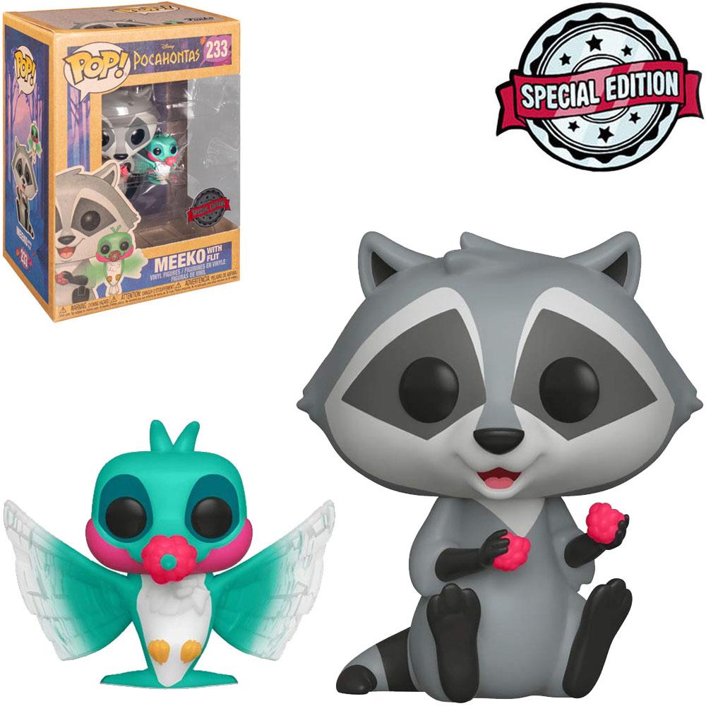 Funko Pop Disney Pocahontas Meeko com Flit 233 Edição Especial