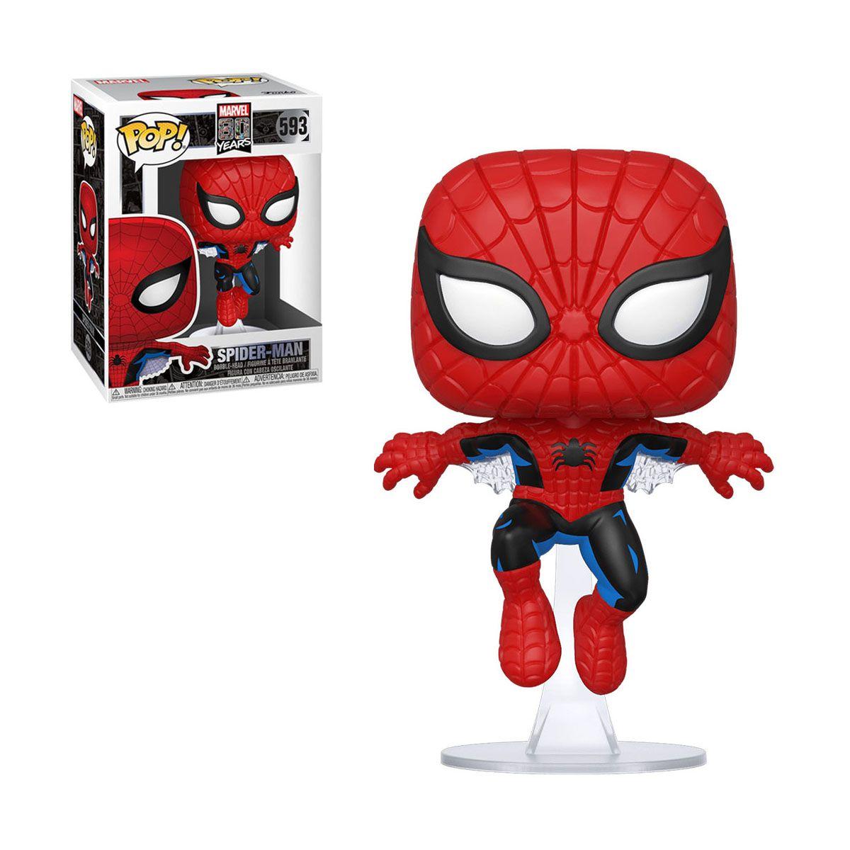 Funko Pop Homem Aranha 593 Spider-Man Marvel 80 Years