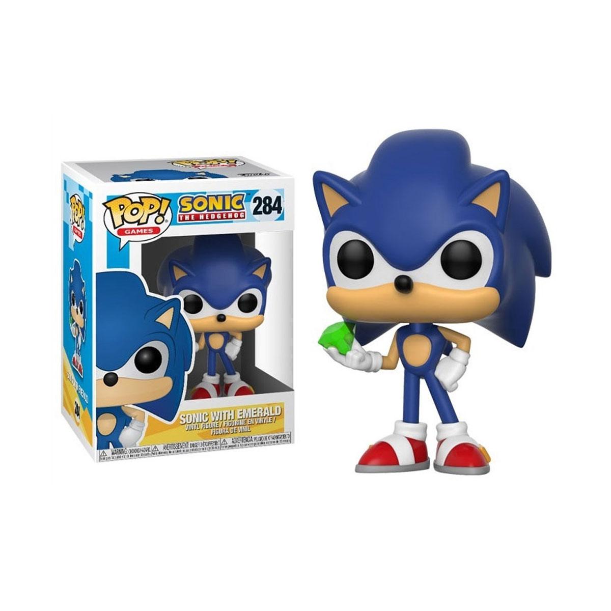 Funko Pop Sonic com Esmeralda 284 Sonic The Hedgehog