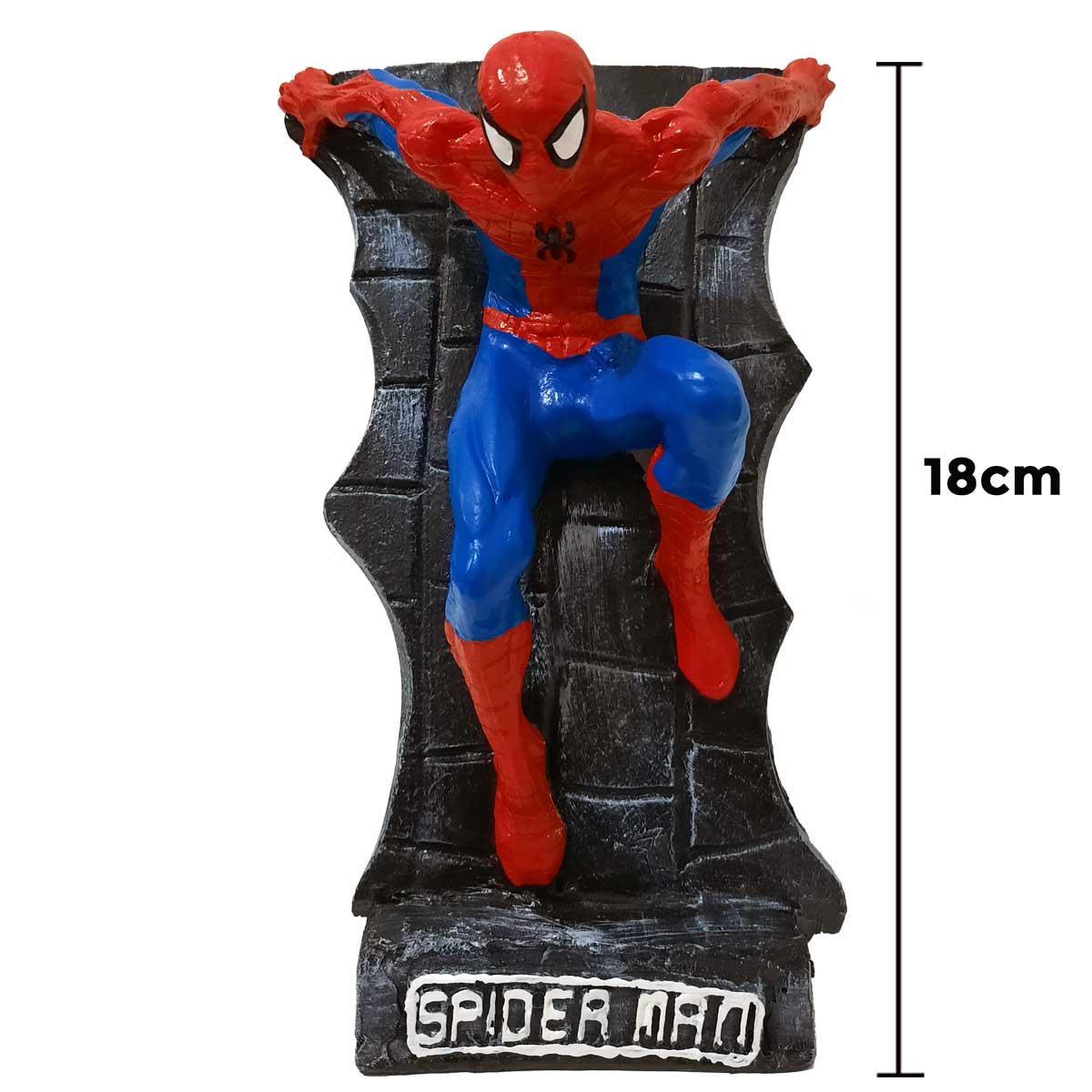 Homem Aranha no Muro Action Figure Estátua 18cm