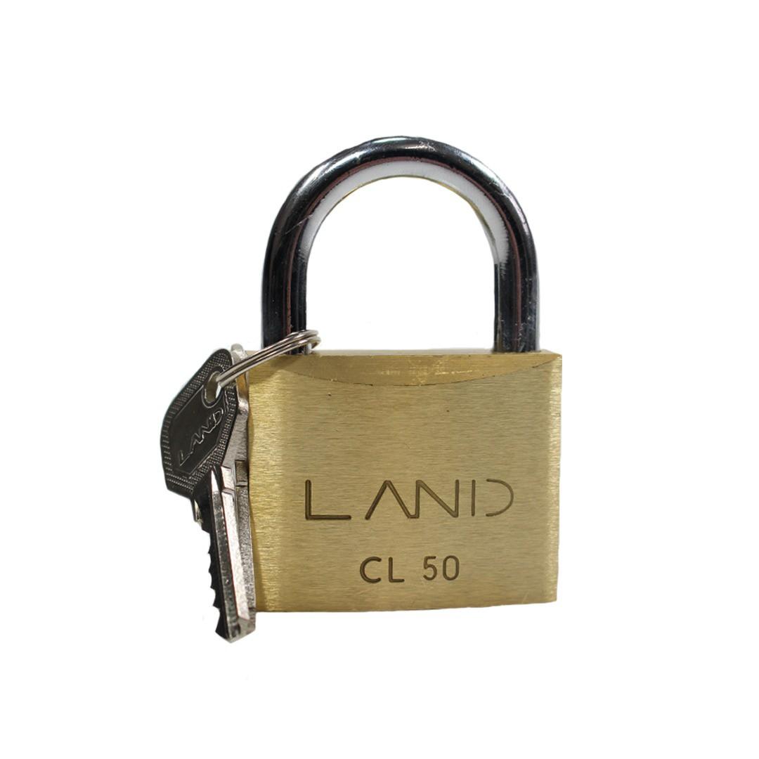 CADEADO CL 50 LATÃO LAND