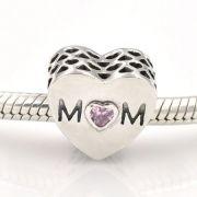 Charm Coração Da Mamãe Prata925