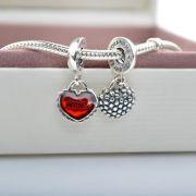 Charm Coração Duplo Mãe E Filha  Prata925