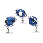 Charm Planeta Azul Prata925