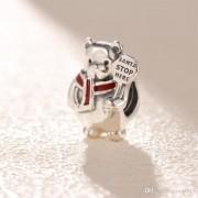 Charm Urso Polar Natalino Prata925
