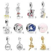 Encomende12%Off!!! Charms Disney  Prata925 (Cód 2201)