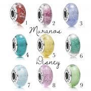 Encomende 12%Off!!! Charms Muranos Disney Prata925 (Cód 2421)