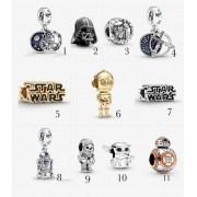 Encomende 15%Off!!! Charms Variados Star Wars Prata925 e ouro18k (cód.3053)