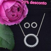 Encomende 20%Off!!!Conjunto Circulo Do Amor Prata925