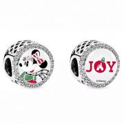 Charm Mickey e Minnie Mouse Disney Parks  Prata925