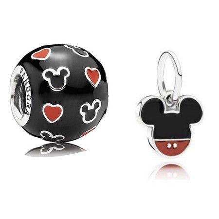 20%Off!!! Kit 2 Charms Disney Love Prata925