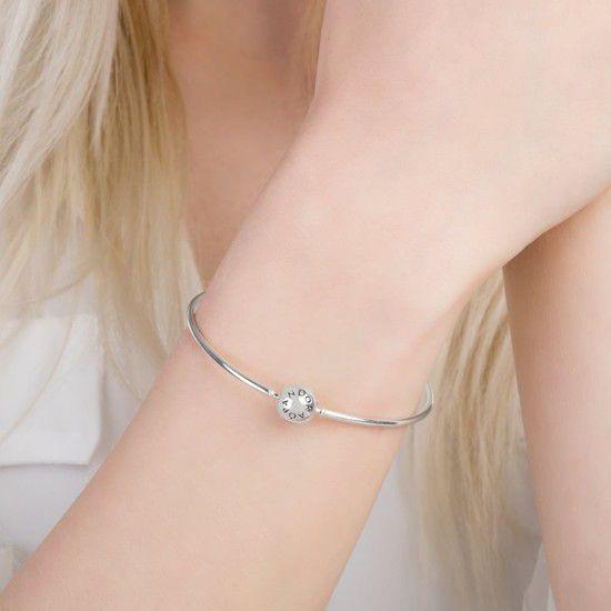 Aproveite 10%Off!!! Bracelete Rígido Em Prata925 (Cód 185)