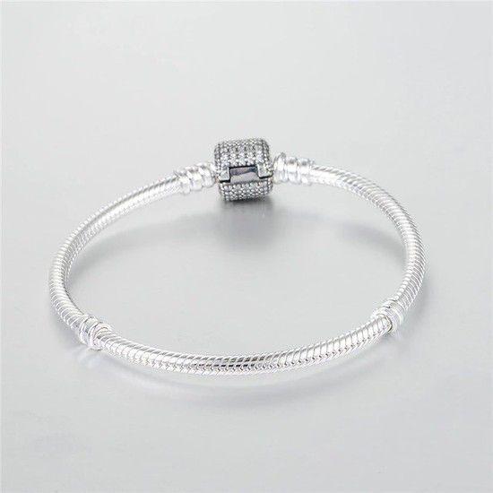 Bracelete Em Prata De Lei Fecho Brilho