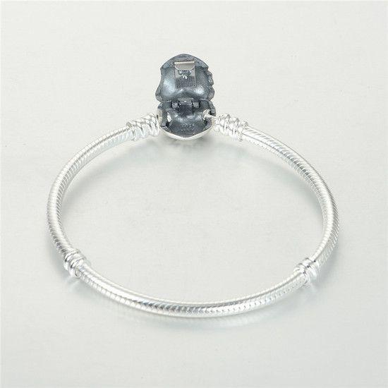 10%OFF!!! Bracelete Em Prata De Lei Fecho Coração