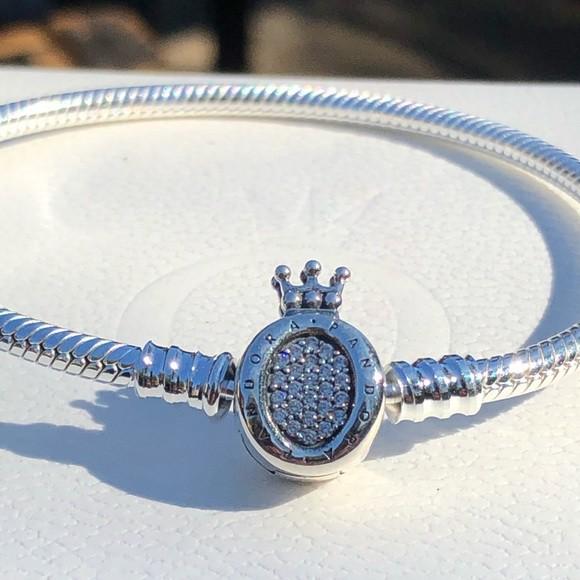 Bracelete Fecho Coroa Prata925