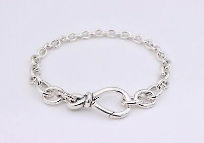Bracelete Infinito Assimétrico Prata925