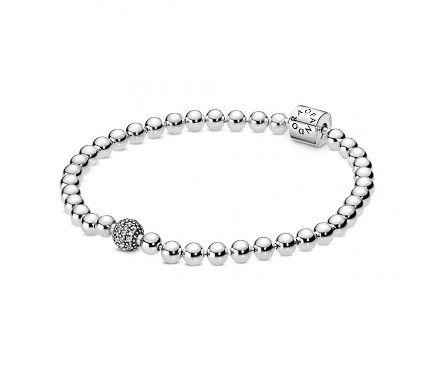 Bracelete Esferas Brilhantes Prata925
