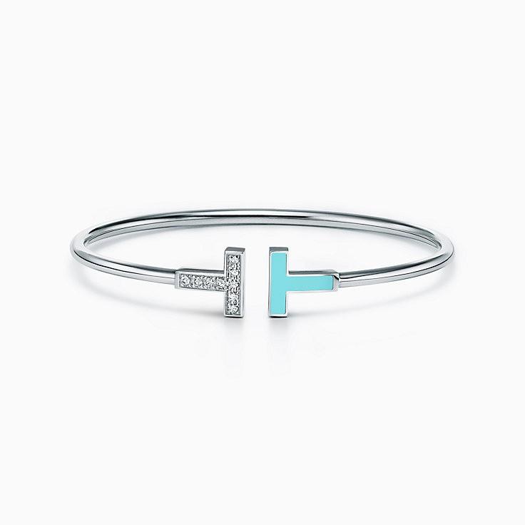 Bracelete Rígido Azul Wire Tiffa Prata925