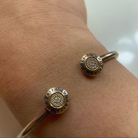 Bracelete Rigido Signature Prata925 e Banho de Ouro 14K