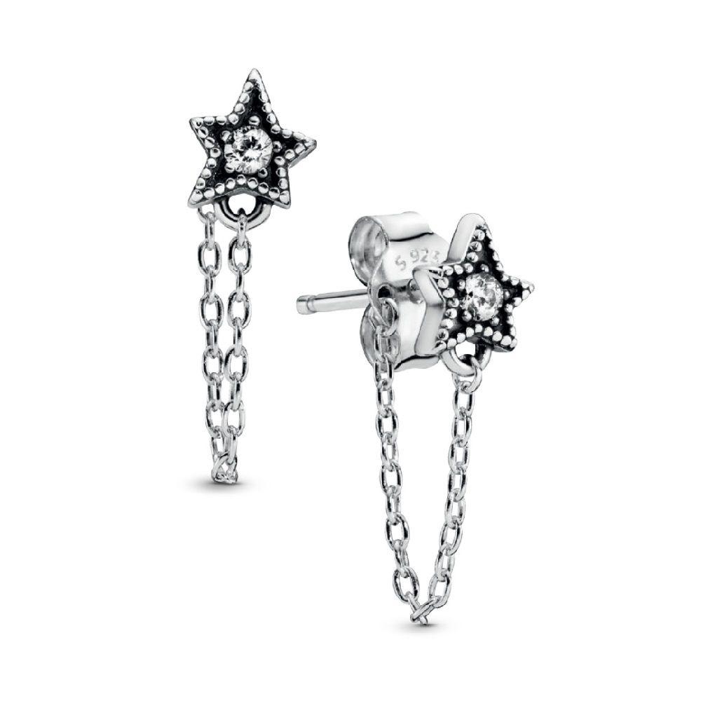Brinco Estrelas celestiais Prata925