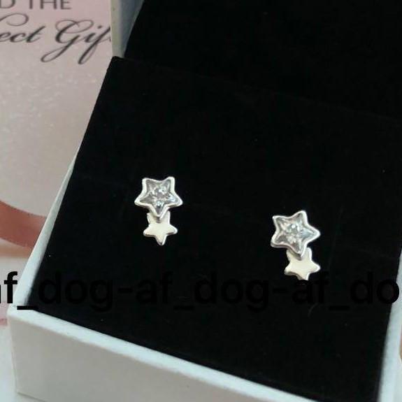 Brinco Estrelas Gêmeas Prateadas Prata925