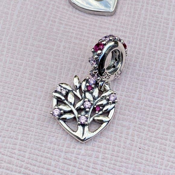 Charm Amuleto da Árvore da Família  Prata925