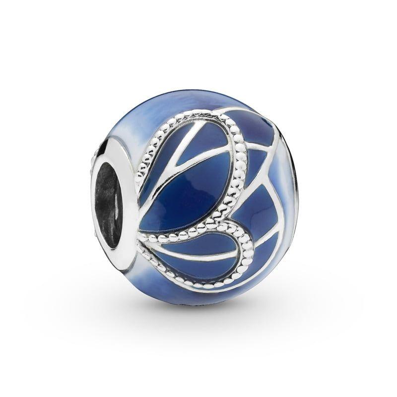 Charm Asa De Borboleta Azul Prata925