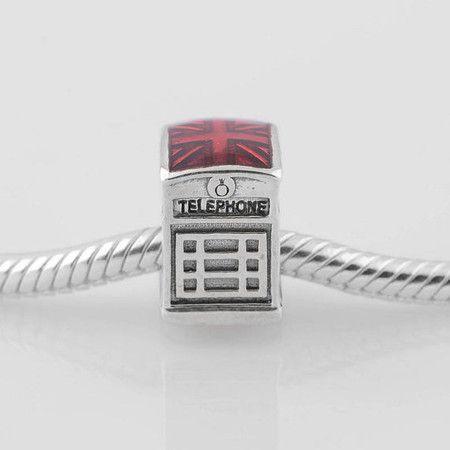 Charm Cabine Telefonica Londres Prata925 (Cód 081)