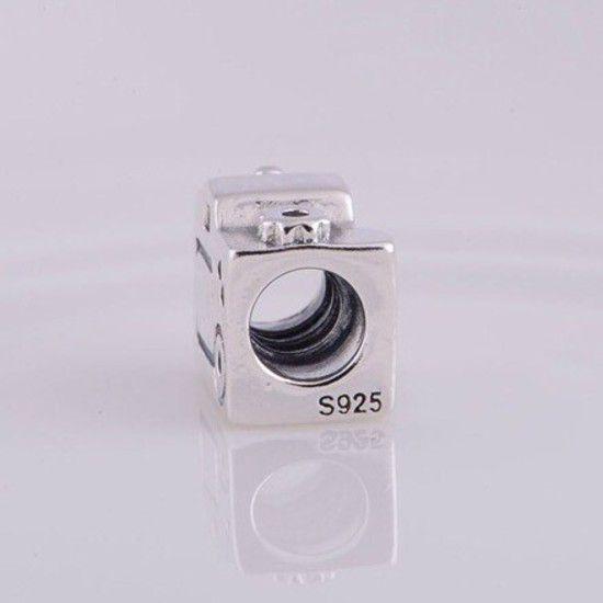 Charm Câmera Fotográfica Prata925 (Cód 173)