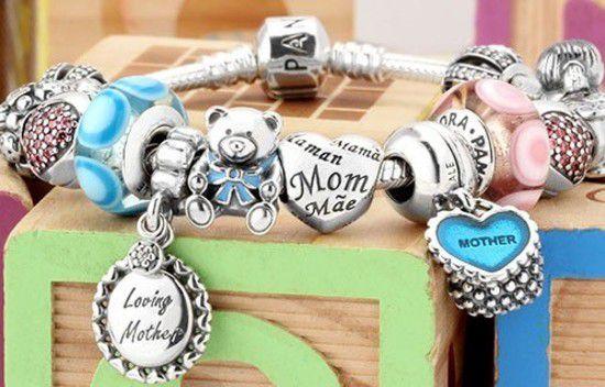 Charm Coração De Mãe Prata925