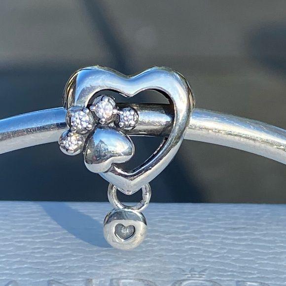 Charm Coração de Patinha Prata925 (Cód 2719)
