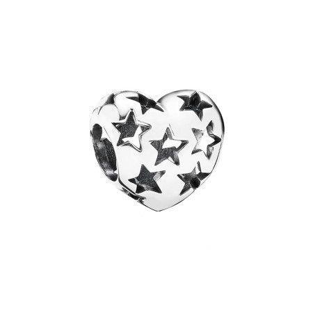 Charm Coração Estrelado Prata925