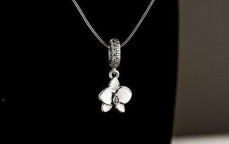 Charm  E Pendente Orquídea Prata925