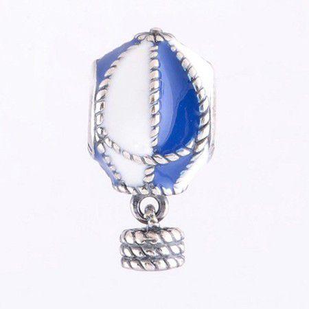 Charm Esmaltado Balão Prata925