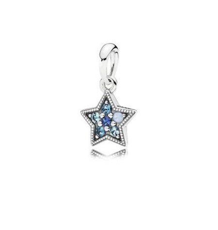 Charm Estrela Brilhante Prata925