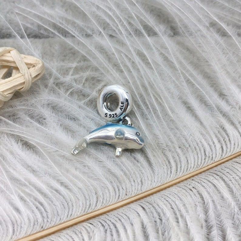 Charm Golfinho Azul Prata925 (Cód 2797)
