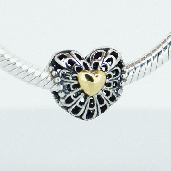 Charm I Love Amor Prata925 Ouro14k