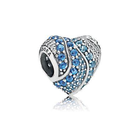 Charm I Love Mar Azul Prata925