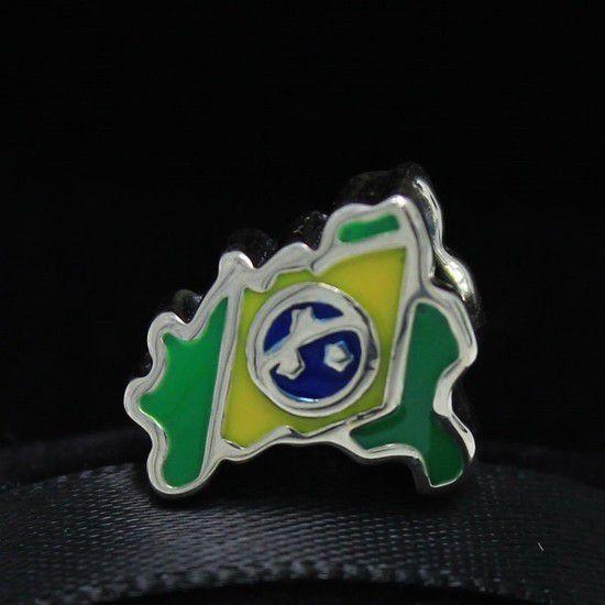 Charm Mapa Do Brasil Prata925