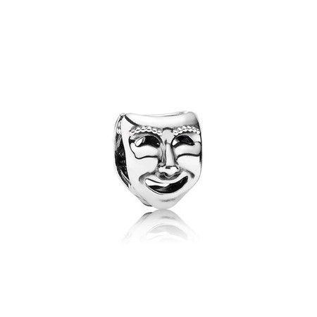 Charm Máscara De Teatro Feliz Prata925
