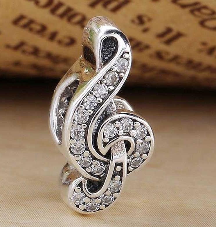 Charm Clave de Sol Musical Prata925