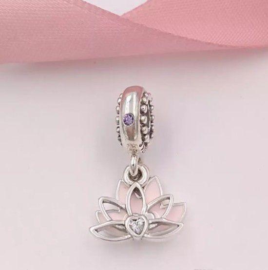 Charm Pendente Flor De Lotus Prata925