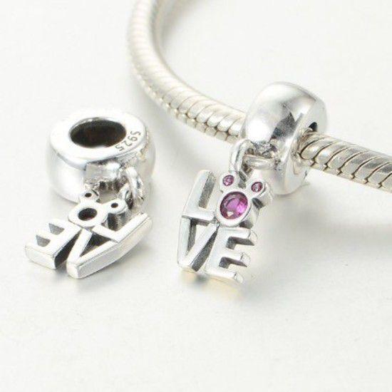 Charm Pendente Love Mickey Prata925