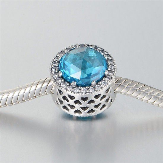 Charm Radiante Azul Prata925