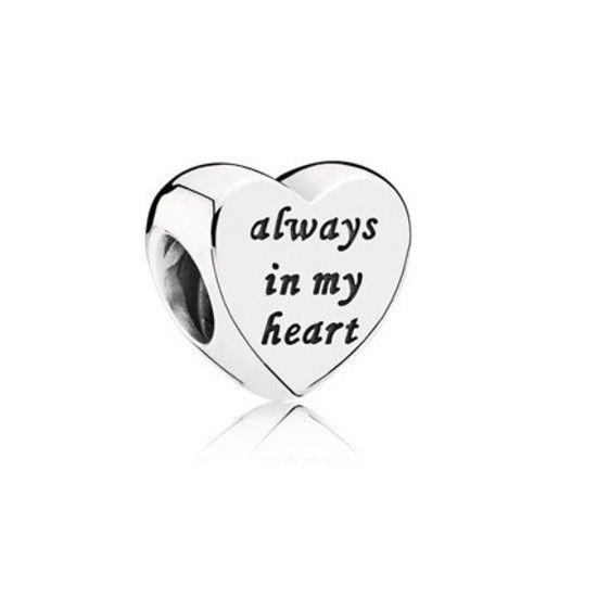 Charm Sempre Em Meu Coração Com Banho De Ouro14k