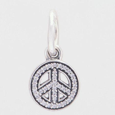 Charm Síbolo Paz E Amor Prata925