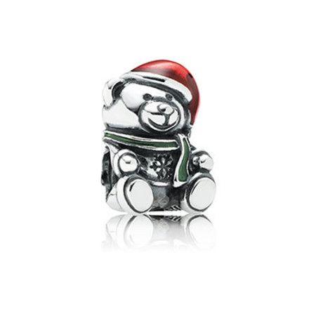 Charm Urso De Natal Prata925
