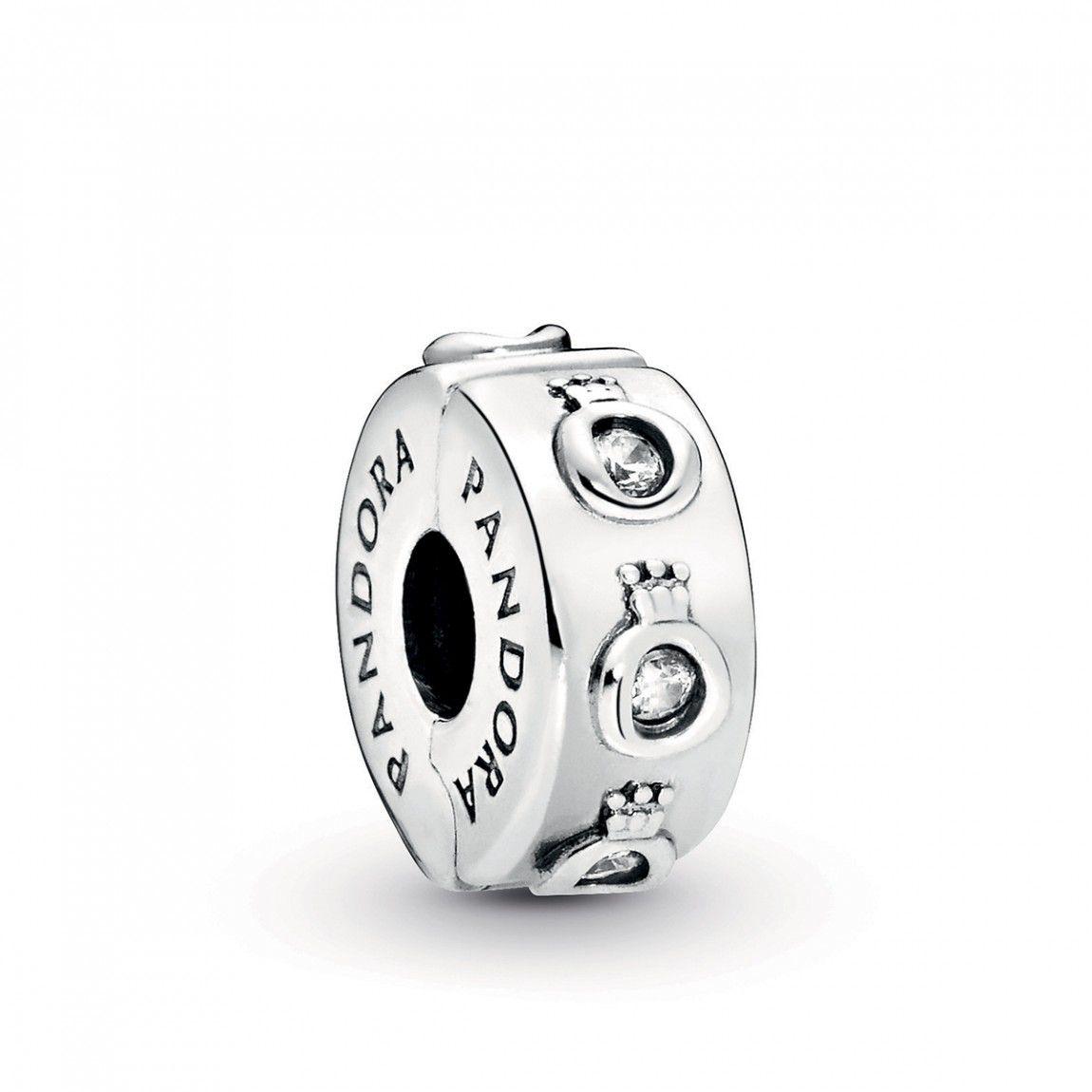 Clipe Coroa Pandora Prata925