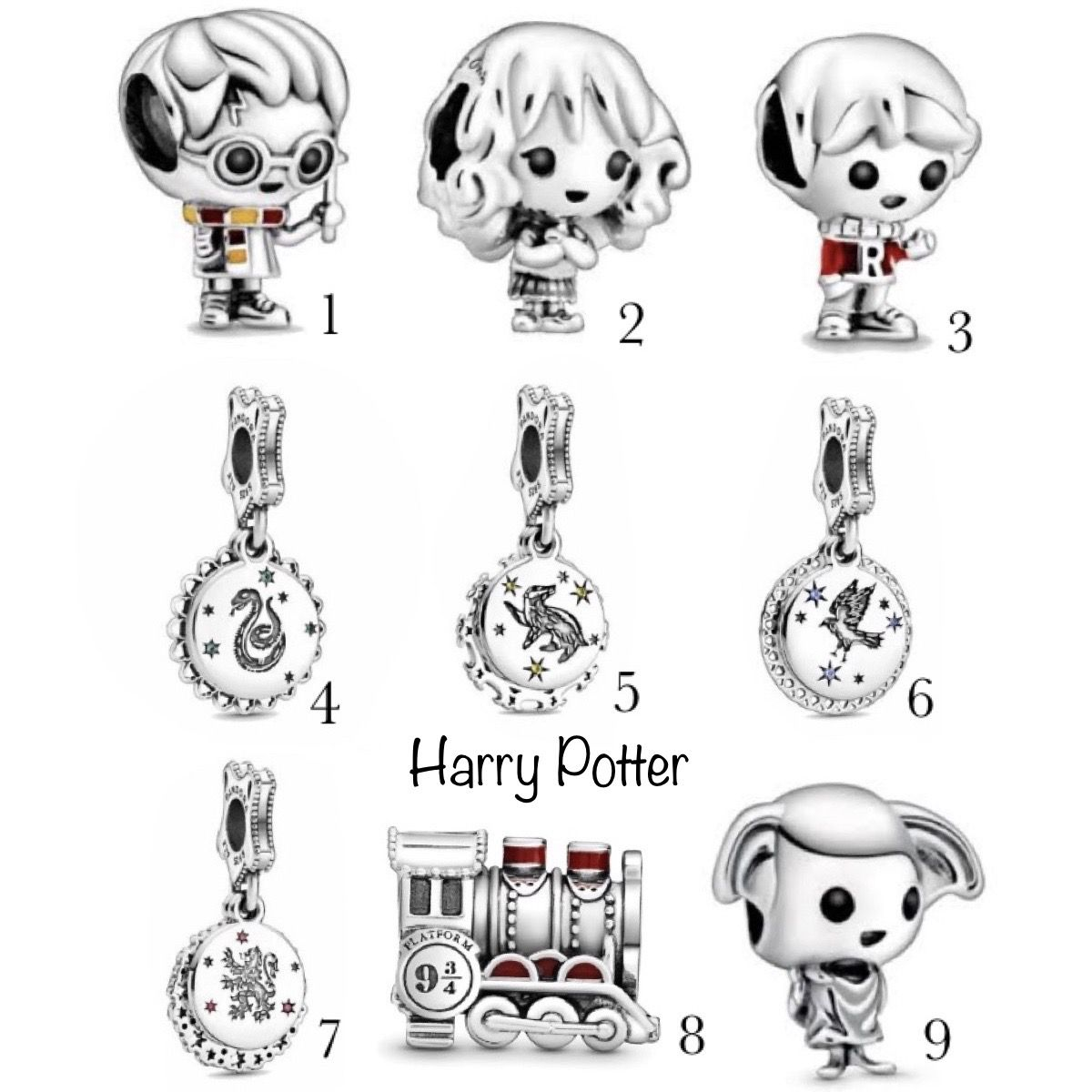 Encomende 12%Off!!!Charm Harry Potter Prata925